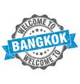 bangkok round ribbon seal vector image vector image