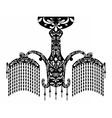 Baroque Elegant Wall lamp vector image vector image