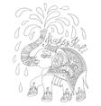 black and white decorative elephant vector image