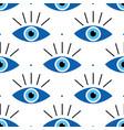blue evil eyes symbols and dots pattern vector image vector image