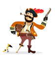 cartoon pirate isolated vector image
