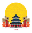 china landmarks with decoration background vector image vector image