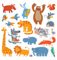 cute zoo animals vector image vector image