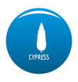 cypress tree icon blue vector image vector image