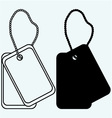 Dog tags vector image vector image