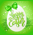 easter greetings card with vector image vector image