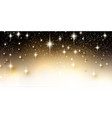 elegant starry christmas background with place for vector image