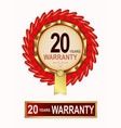 emblem of red color with the text of twenty years vector image vector image