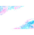 fairy tale cloud sky watercolor background vector image