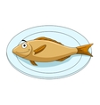 Fish on a platter vector image vector image