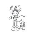 funny elk nursery art minimalist scandinavian vector image vector image