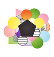 geometric multicolor background with place for vector image vector image