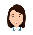girl student character isolated icon vector image vector image