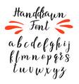 handwritten calligraphy font alphabet
