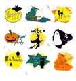 happy halloween silhouette collections design vector image vector image