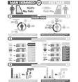 INFOGRAPHIC NUTRITION GREY vector image