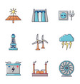 intensity icons set cartoon style vector image vector image