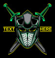 knight helmet logo vector image