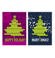 laconic minimal concept christmas tree vector image vector image