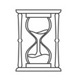 lineart sand hourglass time leak concept design vector image