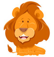lion cartoon funny animal character vector image vector image
