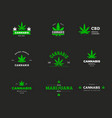 logo template with organic cannabis sbd and thc vector image vector image