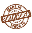 made in south korea vector image vector image