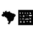 map brazil administrative regions departments vector image