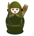 Matryoshka with a grenade launcher vector image