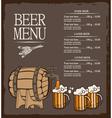 menu for beer vector image vector image