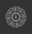 Monogram Design Template Letter in circle vector image