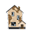 old weathered house or dwelling abandoned home vector image vector image