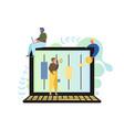 online stock exchange flat style design vector image vector image