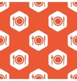 Orange hexagon dinner pattern vector image