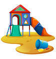 playground with slide and toys vector image vector image