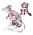 Rat as symbol for Chinese zodiac vector image vector image