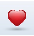 Red heart isolated on a white background vector image