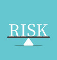 risk balancing concept vector image vector image