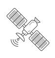 satellite antenna line icon vector image vector image