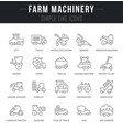 set line icons farm machinery vector image vector image