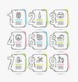 shopping world money and printer icons sun vector image
