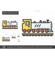 steam locomotive line icon vector image vector image
