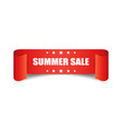 summer sale ribbon icon discount sticker label on vector image vector image