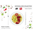swiss cuisine european national dish collection vector image vector image