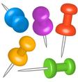 Thumbtacks vector image vector image