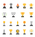 Trophy Awards color icons vector image vector image