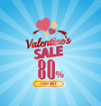 valentines day sale 80 Percent typographic vector image