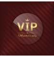 VIP glass label vector image vector image