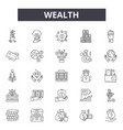 wealth line icons for web and mobile design vector image