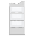 White display rack vector image vector image